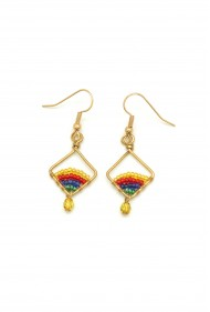 Tiny Rainbow Drop Earrings
